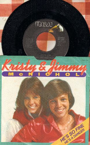 McNichol, Kristy & Jimmy - He's So Fine/He's A Dancer (with picture sleeve) - NM9/VG7 - 45 rpm Records