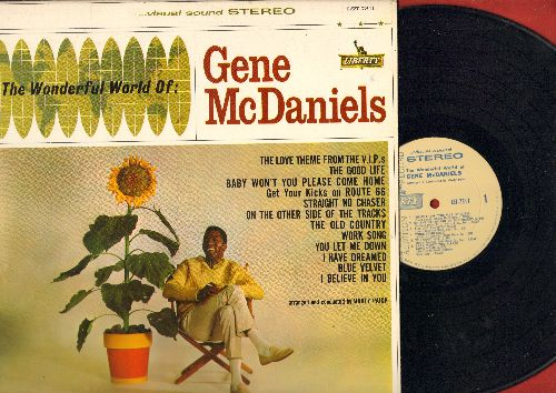 McDaniels, Gene - The Wonderful World Of Gene McDaniels: Blue Velvet, Route 66, Straight No Chase, The Love Theme From The V.I.P.'s, Baby Won't You Please Come Home (Vinyl STEREO LP record, DJ advance pressing) - NM9/EX8 - LP Records