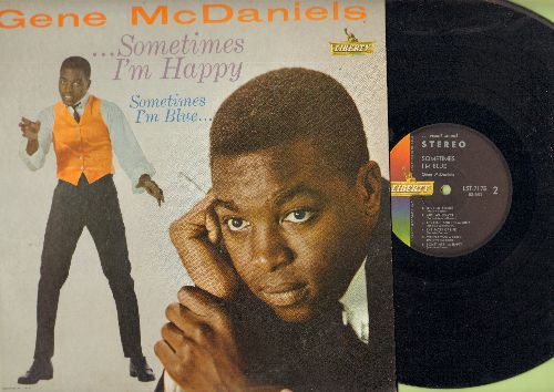 McDaniels, Gene - Sometimes I'm Happy - Sometimes I'm Blue: Love Me Tender, The High And The Mighty, Never Like This, Green Door (vinyl STEREO LP record) - NM9/EX8 - LP Records