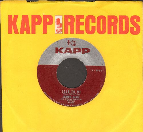 McRae, Carmen - Show Me The Way/Talk To Me (with vinatage Kapp company sleeve) - NM9/ - 45 rpm Records