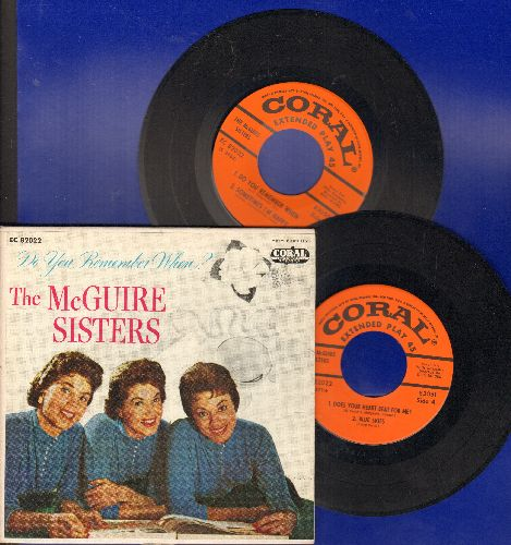 McGuire Sisters - Do You Remember When?/Tip Toe Through The Tulips/Blue Skies/Sometimes I'm Happy +4 (2 vinyl EP records in gate-fold cover) - NM9/EX8 - LP Records