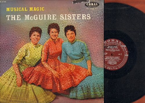 McGuire Sisters - Musical Magic: Goodnight My Love - Pleasant Dreams, Are You Looking For A Sweetheart, Somebody's Wrong, Kid Stuff (vinyl MONO LP record) - EX8/EX8 - LP Records
