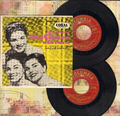 McGuire Sisters - The Three McGuire Sisters: Picking Sweethearts/Miss You/One, Two, Three, Four/Tootle-Loo-Siana (vinyl EP record with picture cover) - EX8/EX8 - 45 rpm Records