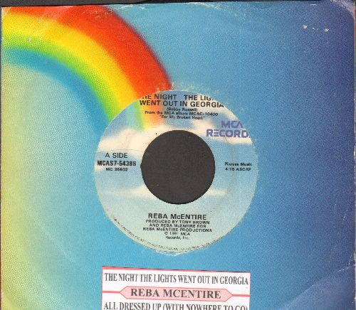 McEntire, Reba - The Night The Lights Went Out In Georgia/All Dressed Up (With Nowhere To Go)(with juke box label and MCA company sleeve) - VG7/ - 45 rpm Records