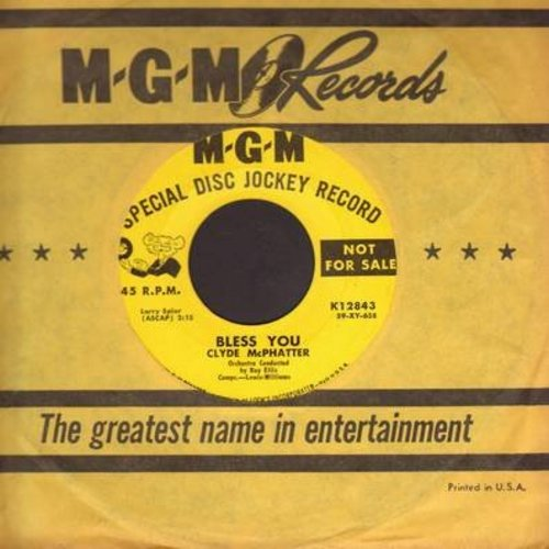 McPhatter, Clyde - Bless You/Let's Try Again (with vintage MGM company sleeve) - EX8/ - 45 rpm Records