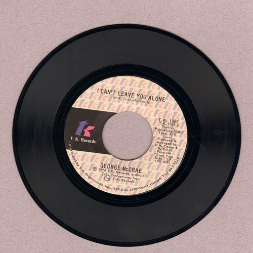 McCrae, George - I Can't Leave You Alone/I Get Lifted - NM9/ - 45 rpm Records