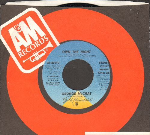 McCrae, George - Own The Night (double-A-sided DJ advance pressing with A&M company sleeve) - NM9/ - 45 rpm Records