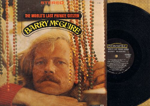 McGuire, Barry - The World's Last Private Citizen: Top O' The Hill, Secret Saucer Man, Hang On Sloopy, Eve Of Destruction, Grasshopper Song (Vinyl STEREO LP record) - NM9/VG7 - LP Records