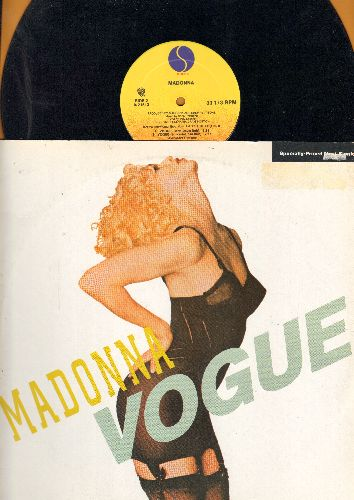 Madonna - Vogue (3 Extended Dance-Club Mixes on 12 inch vinyl Maxi Single with picture cover) - EX8/EX8 - Maxi Singles