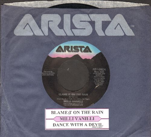 Milli Vanilli - Blame It On The Rain/Dance With The Devil (with juke box label and company sleeve) - EX8/ - 45 rpm Records