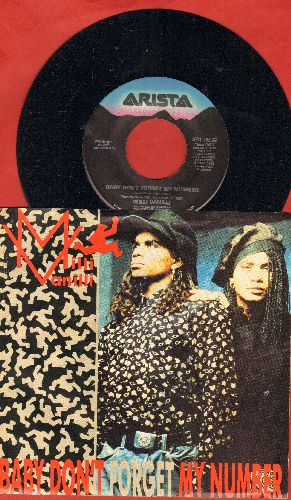 Milli Vanilli - Baby Don't Forget My Number/Too Much Monkey Business (with picture sleeve) - NM9/EX8 - 45 rpm Records