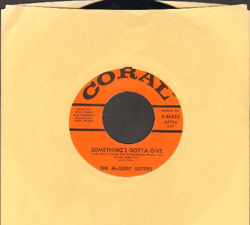 McGuire Sisters - Something's Gotta Give/Rhythm 'N' Blues - NM9/ - 45 rpm Records
