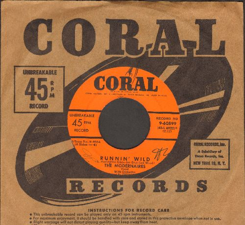 Modernaires - Runnin' Wild/New Juke Box Saturday Night (10 inch 78 rpm record with vintage Coral company sleeve) - EX8/ - 45 rpm Records