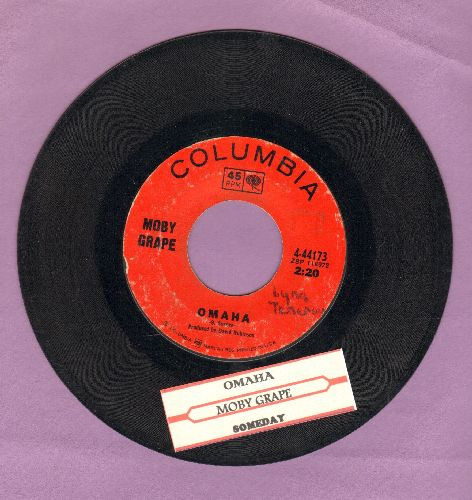 Moby Grape - Omaha/Someday (with juke box label) - VG7/ - 45 rpm Records
