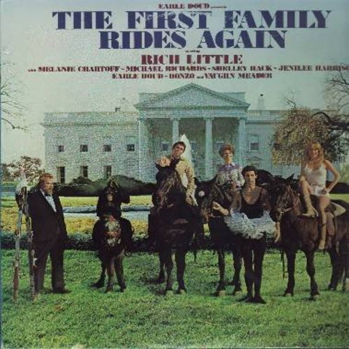 Doud, Earle, Rich Little, Melanie Chartoff, Michael Richards, Vaughn Meader, others - The First Family Rides Again - Hilarious Parody of Ronald Reagan Presidency (Vinyl STEREO LP record) - NM9/EX8 - LP Records