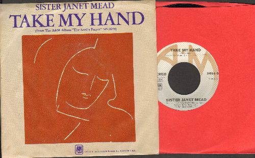Sister Janet Mead - Take My Hand/With You I Am (with picture sleeve) - NM9/EX8 - 45 rpm Records