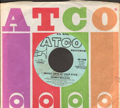 McLean, Penny - Smoke Gets In Your Eyes (double-A-sided DJ advance pressing) - EX8/ - 45 rpm Records