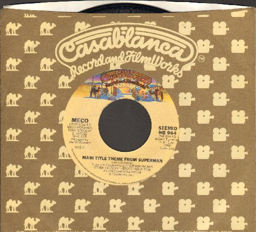 Meco - Main Ttile From Superman/Love Theme From Superman (Can You read My Mind?) (with Casablanca company sleeve) - NM9/ - 45 rpm Records