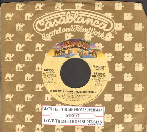 Meco - Main Ttile From Superman/Love Theme From Superman (Can You read My Mind?) (with Casablanca company sleeve and juke box label)) - NM9/ - 45 rpm Records