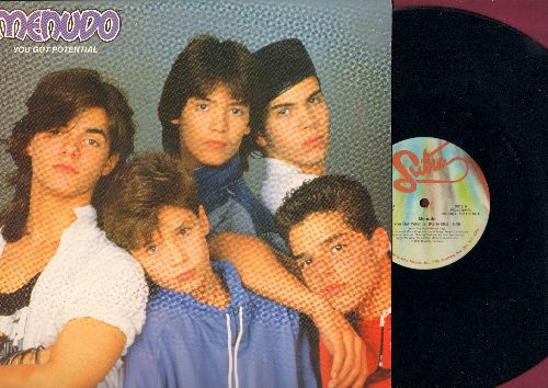 Menudo - You Got Potential (6:26 minutes Party Mix, 6:19 Beach Mix, 3:40 Instrumental) (12 inch vinyl Maxi Single with picture cover featuring a young Ricky Martin, DJ advance pressing) - NM9/NM9 - Maxi Singles