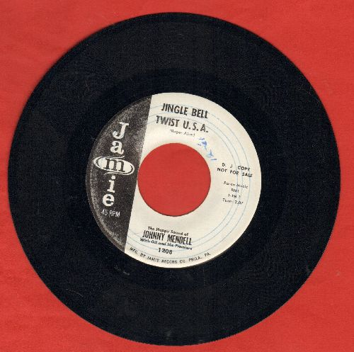 Mendell, Johnny - Jingle Bell Twist U.S.A./A Real Old Fashioned (minor wol) - EX8/ - 45 rpm Records