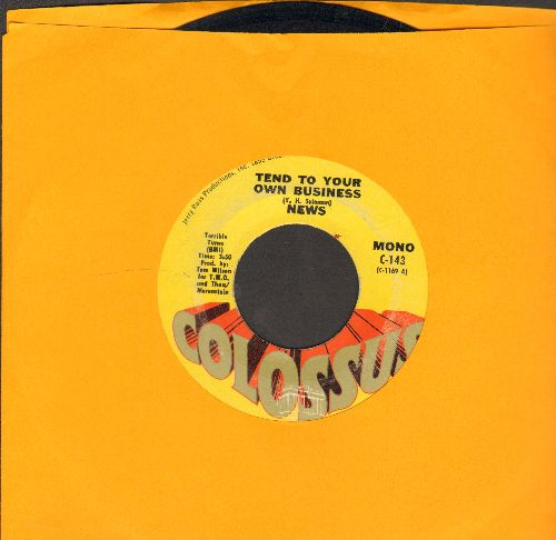 News - Tend To Your Own Business/Representing The Poor - EX8/ - 45 rpm Records