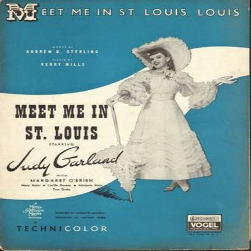 Garland, Judy - Meet Me In St. Louis, Louis - Vintage SHEET MUSIC for the song made popular by Judy Garland (THIS IS SHEET MUSIC, NOT ANY OTHER KIND OF MEDIA!) - EX8/ - Sheet Music