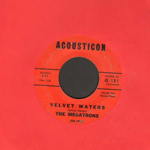 Megatrons - Velvet Waters/The Merry Piper  - VG7/ - 45 rpm Records