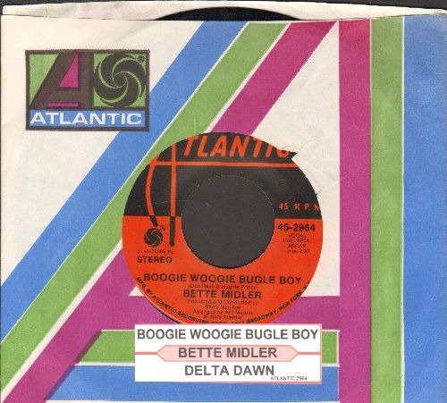Midler, Bette - Boogie Woogie Bugle Boy/Delta Dawn (with juke box label and Atlantic company sleeve) - EX8/ - 45 rpm Records