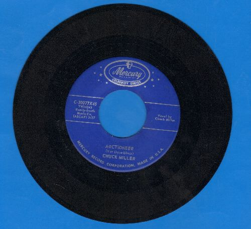 Miller, Chuck - Auctioneer/The House Of Blue Lights (authentic-looking double-hit re-issue) - NM9/ - 45 rpm Records