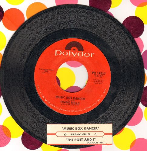 Mills, Frank - Music Box Dancer (1979 surprise Top-10 Instrumental Hit)/The Poet And I (with juke box label) - EX8/ - 45 rpm Records