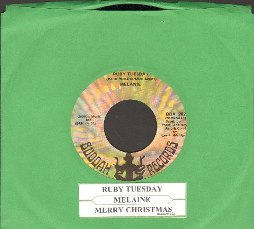 Melanie - Ruby Tuesday/Merry Christmas (with juke box label) - NM9/ - 45 rpm Records