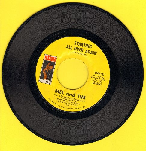 Mel & Tim - Starting All Over Again/It Hurts To Want It So Bad - EX8/ - 45 rpm Records