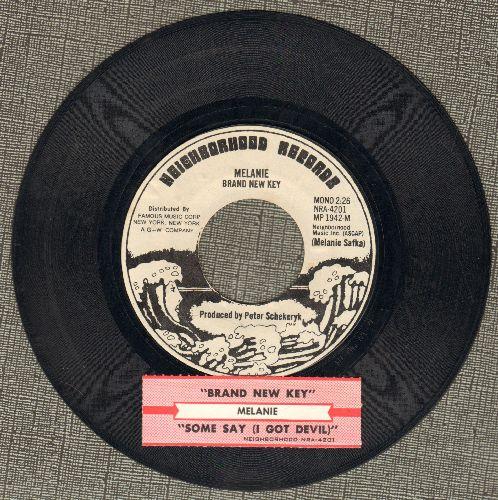 Melanie - Brand New Key/Some Say (I Got Devil) (with juke box label) - EX8/ - 45 rpm Records