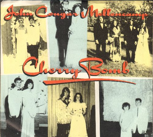 Mellencamp, John Cougar - Cherry Bomb/Shama Lama Ding Dong (with picture sleeve) - NM9/EX8 - 45 rpm Records