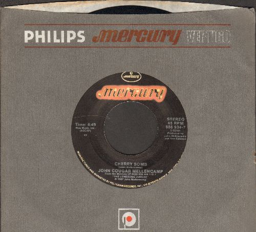 Mellencamp, John Cougar - Cherry Bomb/Shama Lama Ding Dong (with company sleeve) - EX8/ - 45 rpm Records