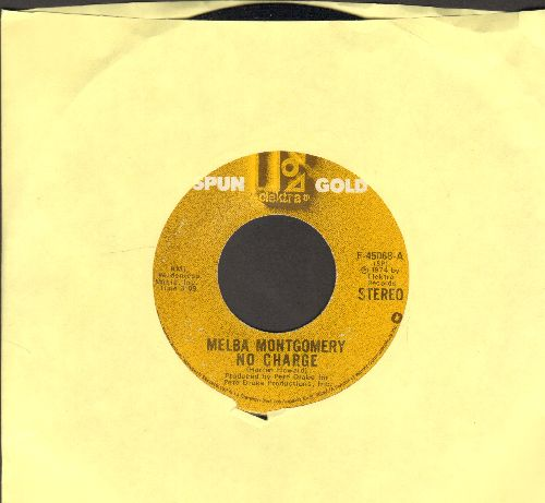 Montgomery, Melba - No Charge/Your Pretty Roses Came Too Late (double-hit re-issue) - VG7/ - 45 rpm Records