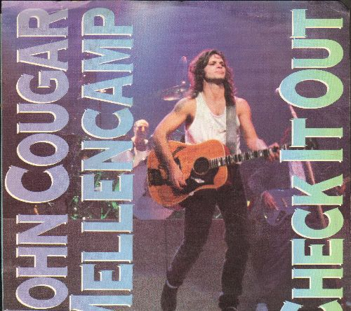 Mellencamp, John Cougar - Check It Out/We Are The People (with picture sleeve) - NM9/NM9 - 45 rpm Records