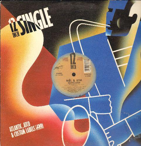 Mel & Kim - Respectable (6:15 Vocal/Club Version)/(7:50 Tabloid Mix) (12 inch vinyl Maxi Single with Atlantic cover) - NM9/ - Maxi Singles