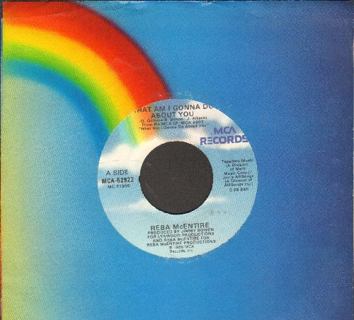 McEntire, Reba - What Am I Gonna Do About You/I Heard Her Crying (with MCA company sleeve) - NM9/ - 45 rpm Records