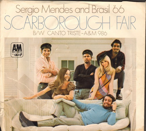Mendes, Sergio & Brazil '66 - Scarborough Fair/Canto Triste (with picture sleeve) (bb) - NM9/VG7 - 45 rpm Records