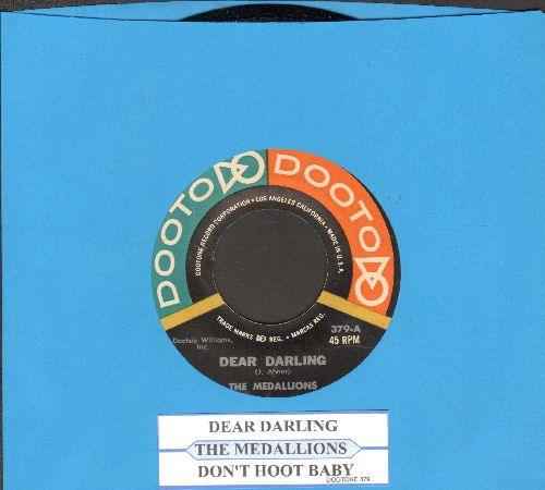 Medallions - Dear Darling/Don't Shoot Baby (RARE first pressing with juke box label) - NM9/ - 45 rpm Records