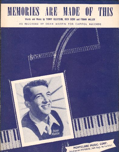 Martin, Dean - Memories Are Made Of This - Vintage SHEET MUSIC for the Dean Martin Classic (NICE cover picture of the legendary crooner!) - NM9/ - Sheet Music