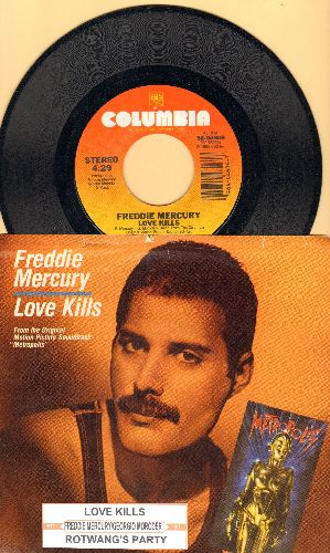 Mercury, Freddy - Love Kills/Rotwang's Party (Robot Dance) (both songs featured in flim -Metropolis-) (with picture sleeve) - NM9/EX8 - 45 rpm Records