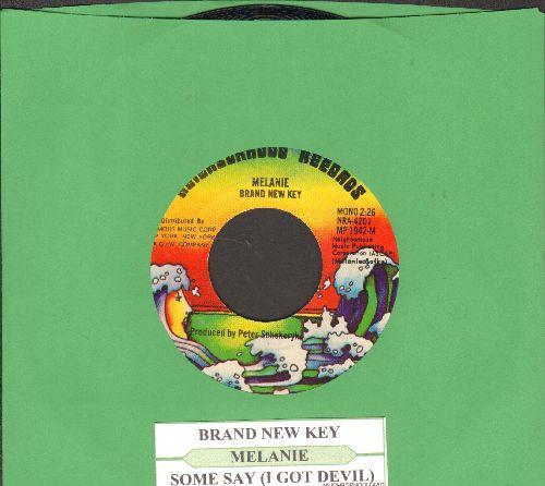 Melanie - Brand New Key/Some Say (I Got Devil) (with juke box label) - NM9/ - 45 rpm Records