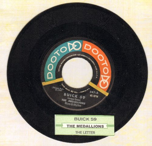 Medallions - Buick '59/The Letter (RARE first pressing with juke box label) - EX8/ - 45 rpm Records
