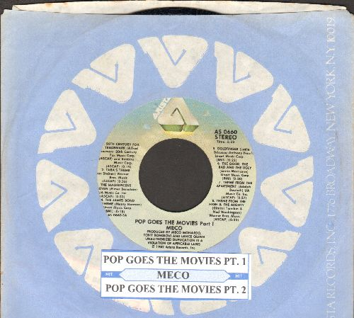 Meco - Pop Goes The Movies (Parts 1+2) (with juke box label Arista company sleeve) - NM9/ - 45 rpm Records