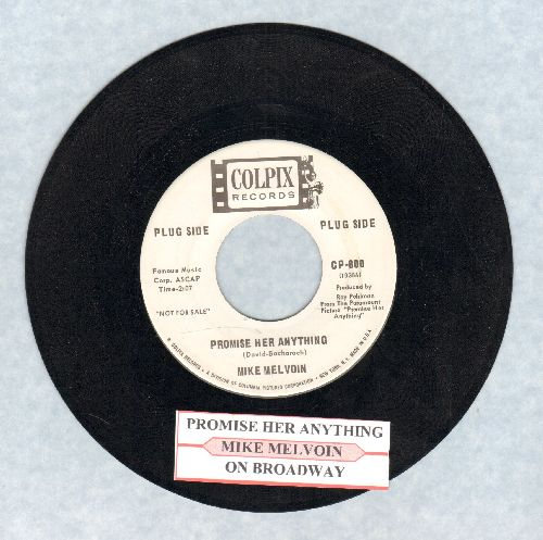 Melvoin, Mike - Promise Her Anything/On Broadway (DJ advance pressing with juke box label) - NM9/ - 45 rpm Records