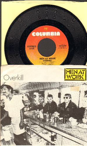 Men At Work - Overkill/Till The Money Runs Out (with picture sleeve) - NM9/EX8 - 45 rpm Records