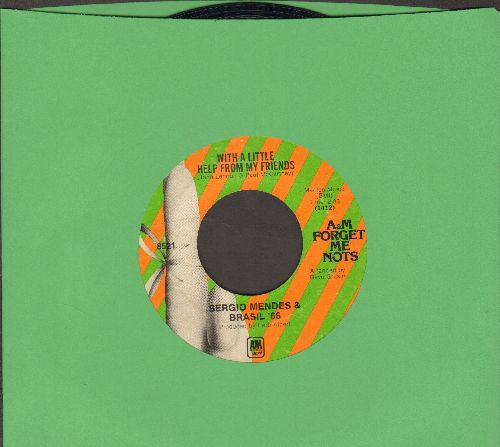 Mendes, Sergio & Brazil '66 - With A Little Help From My Friends/The Fool On The Hill (double-hit re-issue) - EX8/ - 45 rpm Records